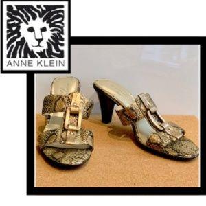 Anne Klein iflex Snakeskin Heels, Size 7